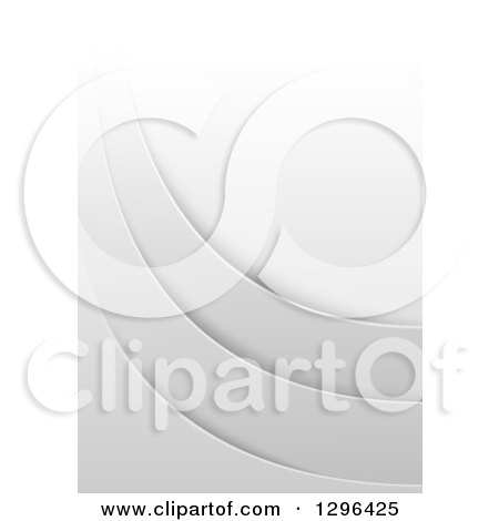 Clipart of a Grayscale Background of Layered Swooshes - Royalty Free Vector Illustration by dero