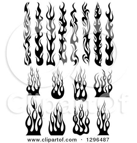 Royalty free tribal illustrations by vector tradition sm for Black and white flame tattoo