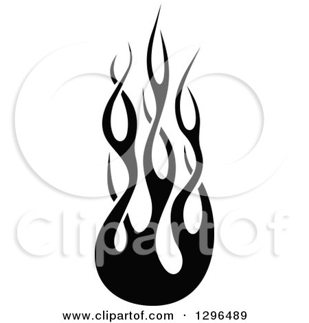 Royalty free rf clipart of tribal flames illustrations for Black and white flame tattoo