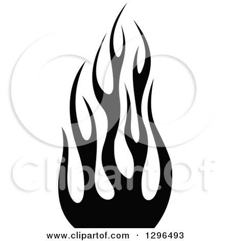 Royalty free rf black and white fire clipart for Black and white flame tattoo