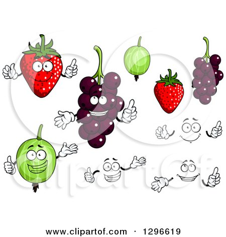 Clipart of a Strawberries, Gooseberries and Currants - Royalty Free Vector Illustration by Vector Tradition SM