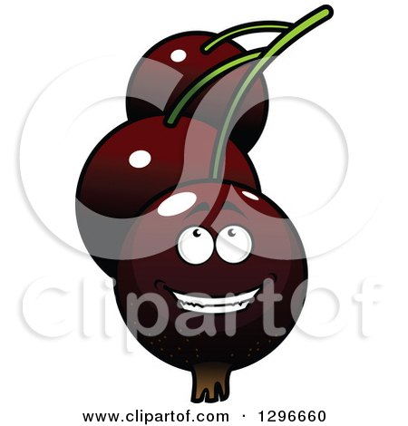 Clipart of a Cartoon Happy Currants Character Looking up - Royalty Free Vector Illustration by Vector Tradition SM