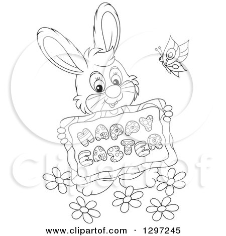 Royalty Free Stock Illustrations of Easter Bunnies by Alex Bannykh ...