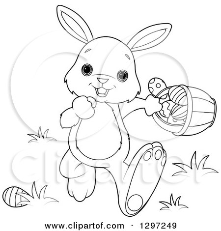 Cute Animal Clipart of an Adorable Black and White White ...
