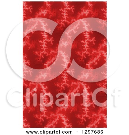 Clipart of a Seamless Red Fratal Background - Royalty Free Illustration by oboy