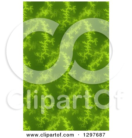 Clipart of a Seamless Green Fratal Background - Royalty Free Illustration by oboy