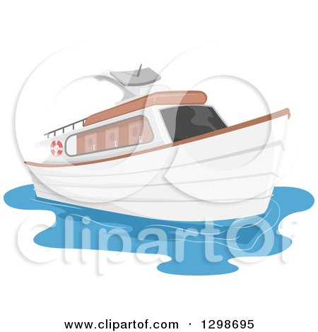 Clipart of a Private Yacht Boat - Royalty Free Vector Illustration by BNP Design Studio