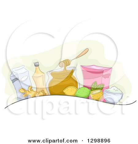 Clipart of Homemade Remedies - Royalty Free Vector Illustration by BNP Design Studio