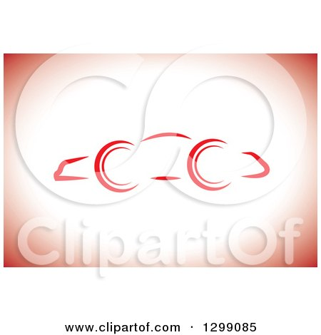 Clipart of a Simple Car Sketch on White and Red - Royalty Free Vector Illustration by ColorMagic
