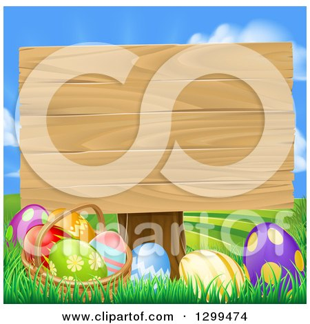 Royalty-Free (RF) Easter Sign Clipart, Illustrations, Vector ...
