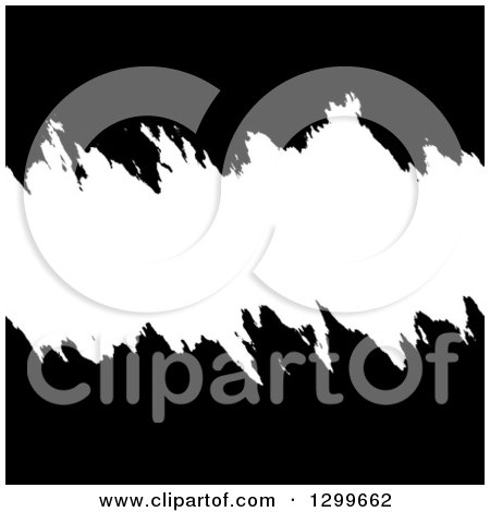 Clipart of a Black and White Grunge Background with Text Space - Royalty Free Vector Illustration by Arena Creative