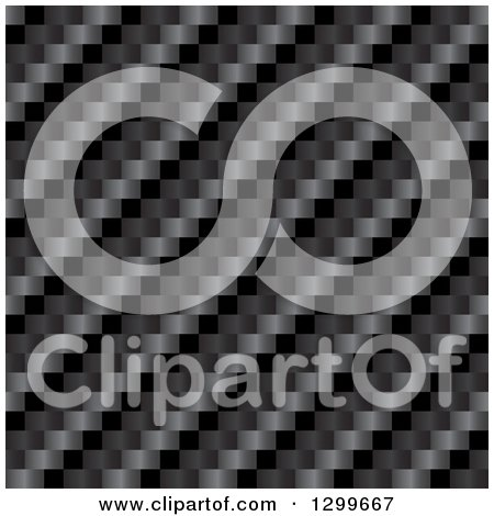 Clipart of a Dark Diagonal Carbon Fiber Texture Background - Royalty Free Vector Illustration by Arena Creative