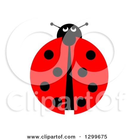 Clipart of a View down on a Ladybug on White - Royalty Free Illustration by oboy