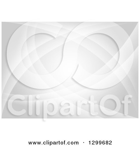 Clipart of a Background of Gray Abstract Swooshes - Royalty Free Vector Illustration by dero