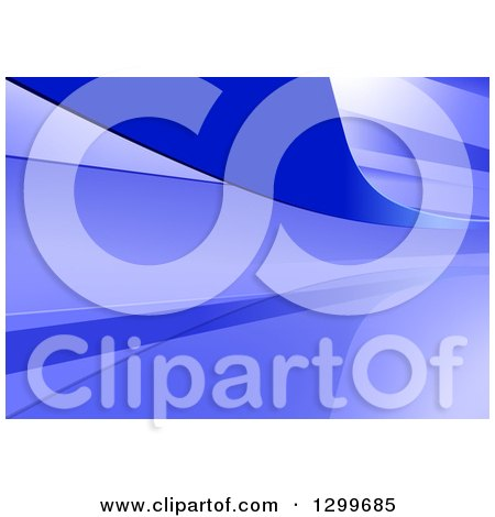 Clipart of a Background of Purple and Blue Swooshes - Royalty Free Vector Illustration by dero