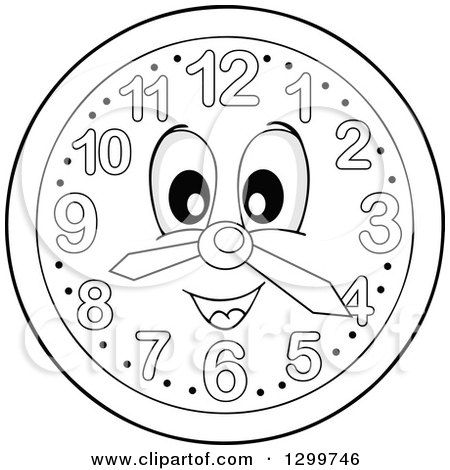 clipart of a colorful wall clock