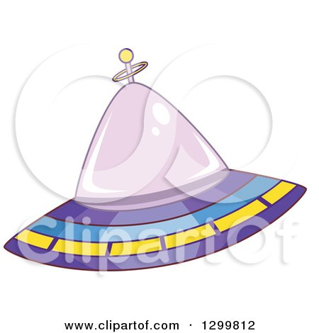 Clipart of a Cartoon Flying Ufo - Royalty Free Vector Illustration by BNP Design Studio