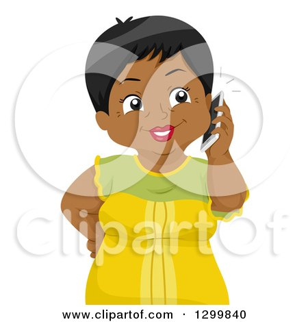 George and Amal's summer plans 1299840-Clipart-Of-A-Cartoon-Senior-Black-Woman-Talking-On-A-Cell-Phone-Royalty-Free-Vector-Illustration