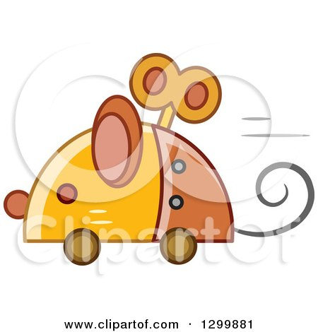 Clipart of a Steampunk Robotic Mouse - Royalty Free Vector Illustration by BNP Design Studio