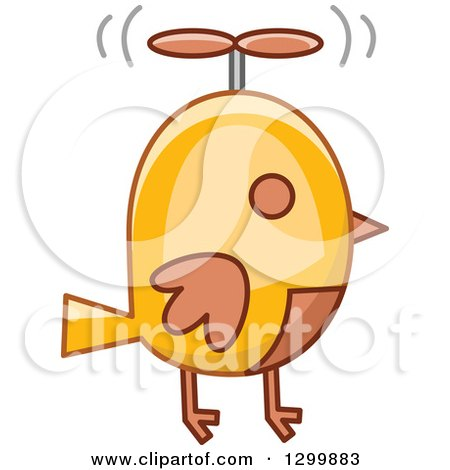 Clipart of a Steampunk Robotic Bird - Royalty Free Vector Illustration by BNP Design Studio
