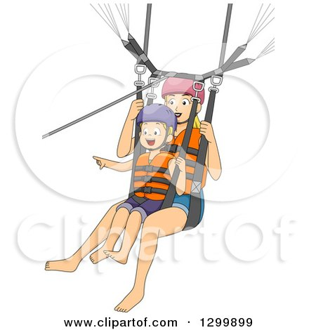 Royalty-Free (RF) Parasailing Clipart, Illustrations ...