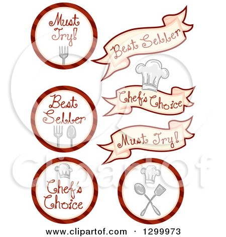 Clipart of Chefs Choice Food Designs - Royalty Free Vector Illustration by BNP Design Studio