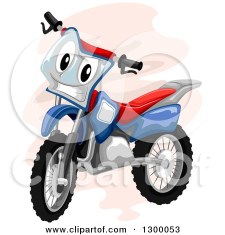 Clipart of a Cartoon Motocross Bike Character - Royalty Free Vector Illustration by BNP Design Studio