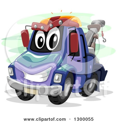 Clipart of a Cartoon Tow Truck Character - Royalty Free Vector Illustration by BNP Design Studio