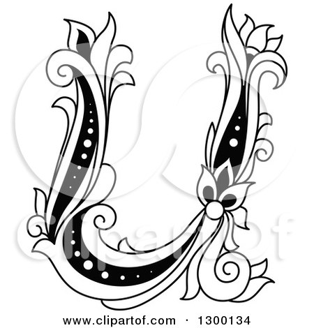 Clipart Of An Abstract Letter U Logo Design Royalty Free Vector