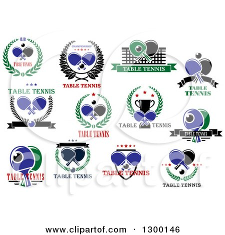 Royalty free rf table tennis clipart illustrations for Text table design