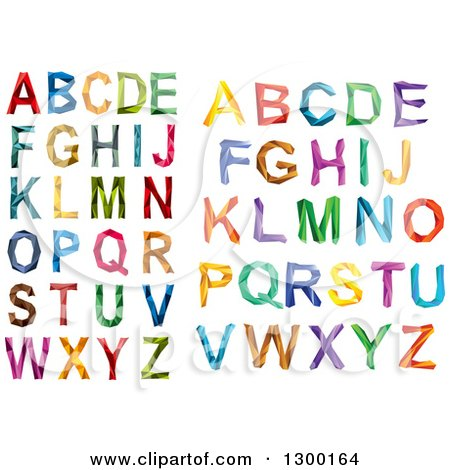 Clipart of Colorful Capital Geometric Alphabet Letters - Royalty Free Vector Illustration by Vector Tradition SM