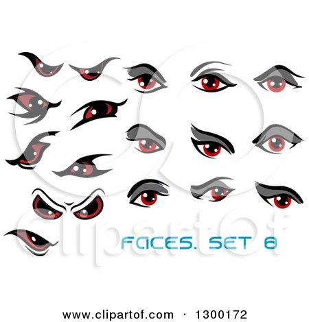 Royalty-Free (RF) Clipart of Red Eyes, Illustrations, Vector ...