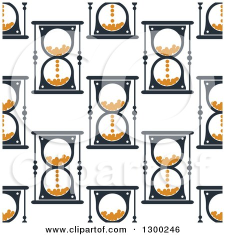 Clipart of a Seamless Pattern Background of Hourglasses 2 - Royalty Free Vector Illustration by Vector Tradition SM