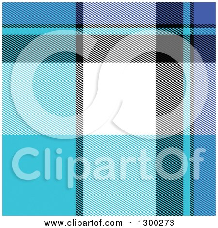 Clipart of a Blue, White, Black and Purple Plaid Seamless Pattern Background - Royalty Free Vector Illustration by Arena Creative