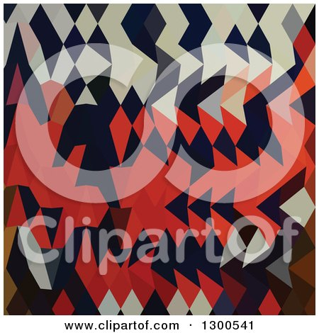 Clipart of a Low Poly Abstract Geometric Background of Harlequin - Royalty Free Vector Illustration by patrimonio