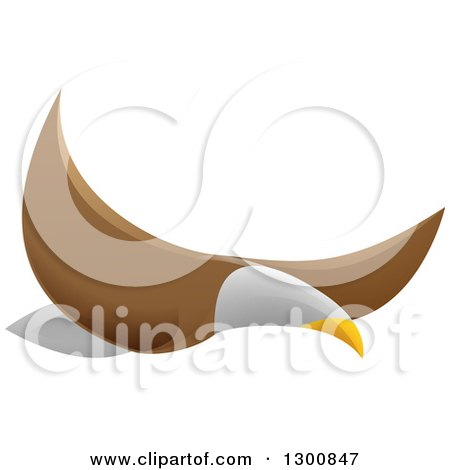 Clipart of a Flying Bald Eagle - Royalty Free Vector Illustration by AtStockIllustration