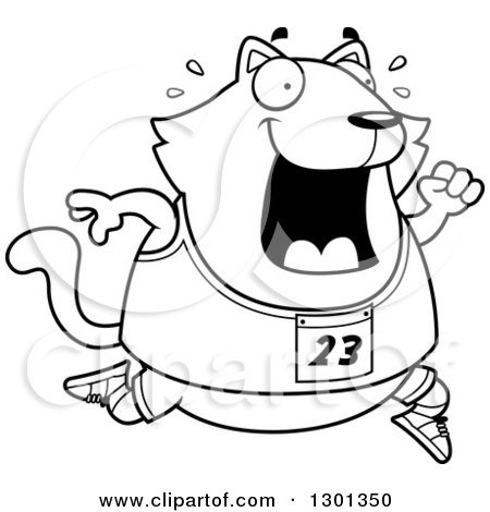 Royalty Free Rf Cat Running Clipart Illustrations