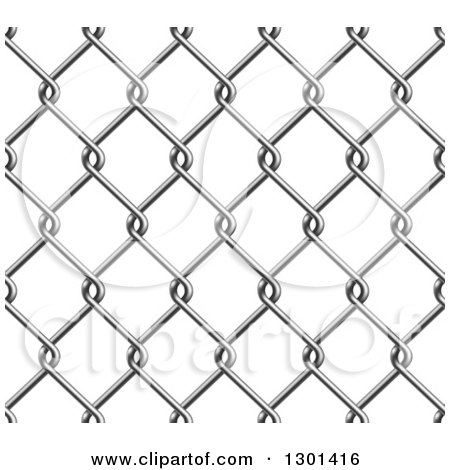 royalty free rf clipart illustration of a seamless chain link fence background over white by. Black Bedroom Furniture Sets. Home Design Ideas