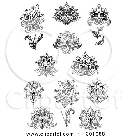 Black and white henna and lotus flowers 6 posters art prints by black and white henna and lotus flowers 6 posters art prints mightylinksfo