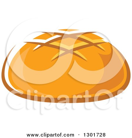 Clipart of a Round Bread - Royalty Free Vector Illustration by Vector Tradition SM