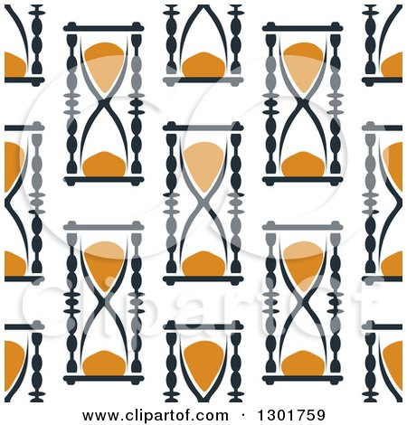 Clipart of a Seamless Pattern Background of Hourglasses 4 - Royalty Free Vector Illustration by Vector Tradition SM