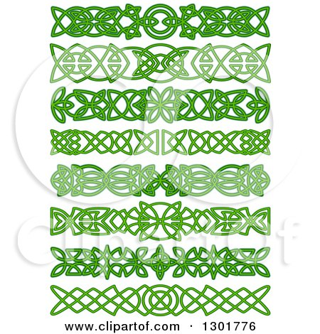 Clipart of Green Celtic Knot Rule Border Design Elements 2 ...