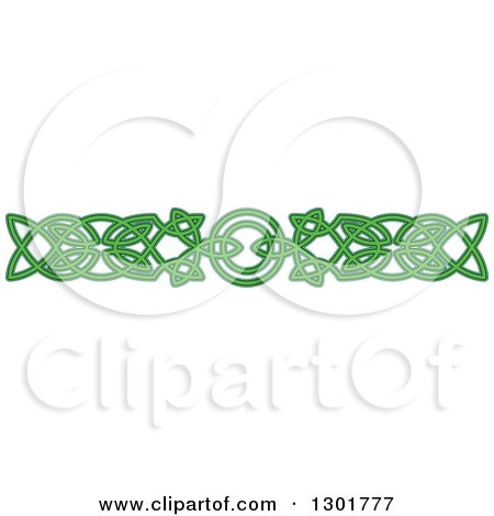 Clipart Of A Green Celtic Knot Rule Border Design Element 10 Royalty Free Vector Illustration