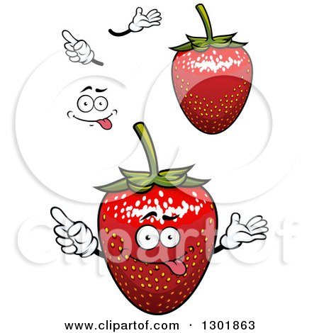 Clipart of Strawberries, Hands and a Face 2 - Royalty Free Vector Illustration by Vector Tradition SM