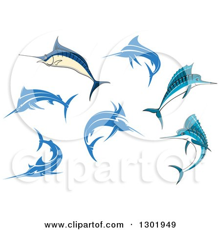 Clipart of Marlin Fish - Royalty Free Vector Illustration by Vector Tradition SM