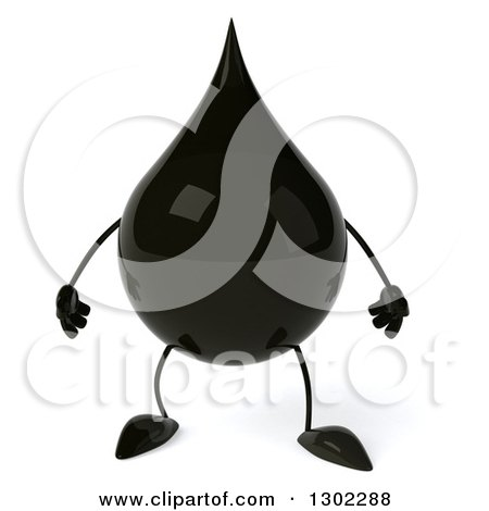 Clipart of a 3d Oil Drop Character - Royalty Free Vector Illustration by Julos