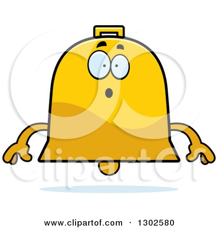 Clipart of a Cartoon Surprised Bell Character Gasping - Royalty Free Vector Illustration by Cory Thoman