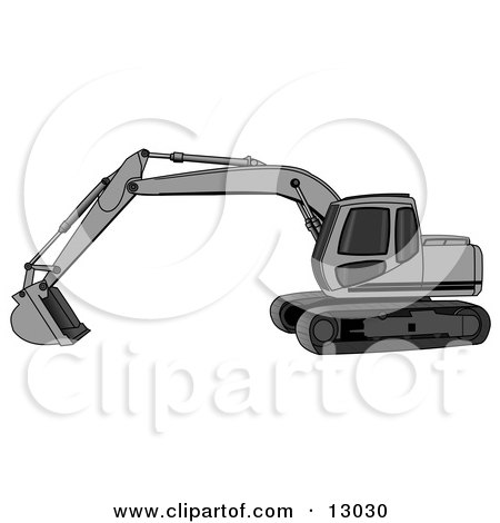 Excavator Clipart Black And White