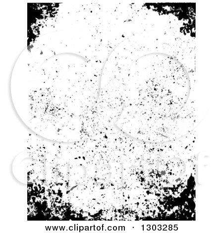Clipart of a Border of Distressed Grunge - Royalty Free Vector Illustration by BestVector