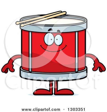 Clipart of a Cartoon Happy Musical Drums Character Smiling - Royalty Free Vector Illustration by Cory Thoman